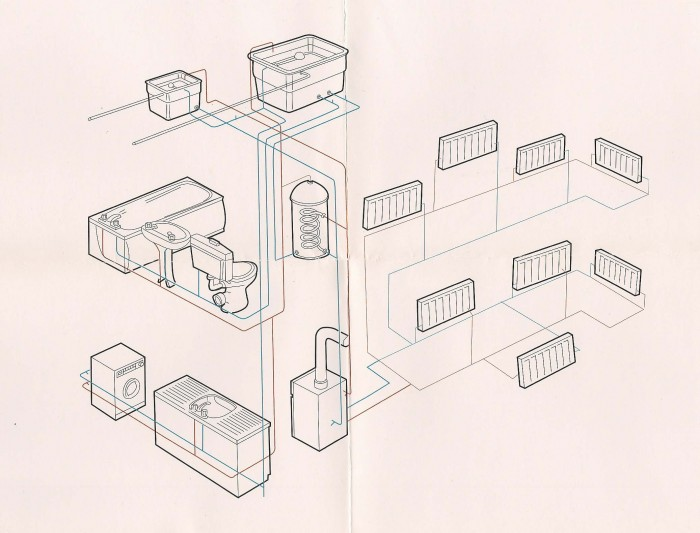 Natasha Kidd - Central heating system drawing