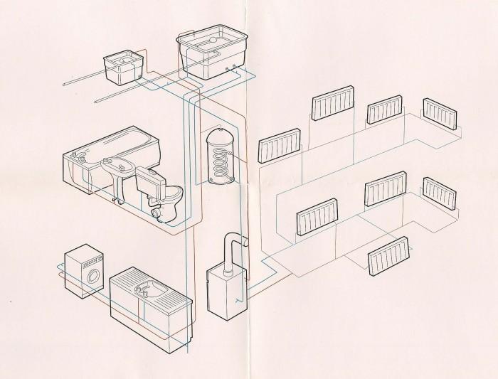 Natasha Kidd - Central heating system drawing